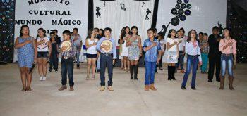 Evento cultural na Escola municipal mundo mágico