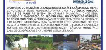 Código de Posturas do Município de Santa Rosa de Goiás.